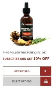 Lost Empire Herbs Pine Pollen Tincture