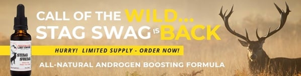 Lost Empire Herbs coupon to save on Stag Swag natural androgen boosting formula