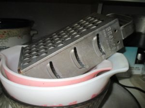My personal Jacob Bromwell grater! New home for the vintage cheese grater